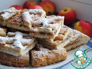 Рецепт Яблочно-творожный пирог