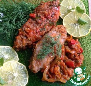 """Рецепт Сазан запеченный с томатами и овощами """"Стройная фигура"""""""