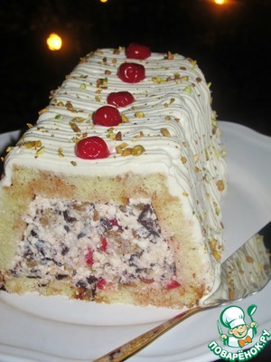 Рецепт Сицилийская кассата-мороженый творожный торт