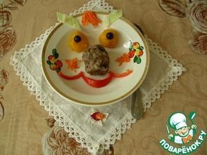 """Рецепт Котлетки мясо-капустные на пару """"Смешарики"""""""