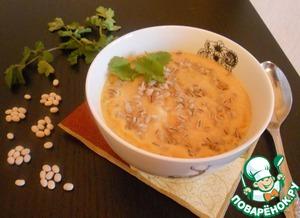 Рецепт Фасолевый суп-пюре с перловой крупой
