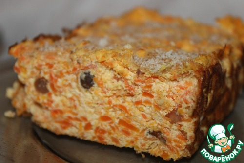 Творожно-морковный десерт