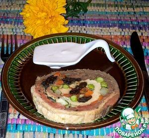 Рецепт Рулет из трёх видов мяса