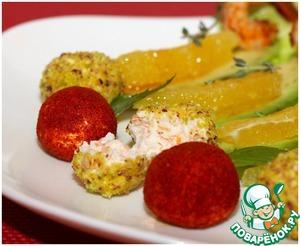 Рецепт Легкий салат с крабовыми палочками и креветками