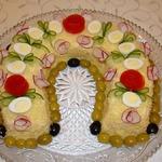 Новогодний салат-Подкова