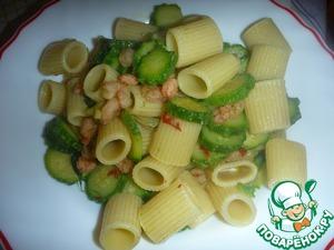 Рецепт Паста с цуккини и креветками