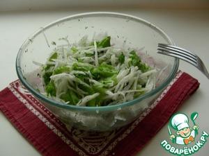 Рецепт Салат из белой редьки с зеленью
