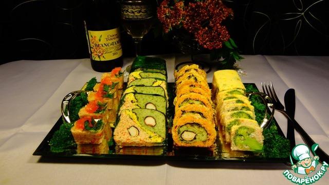Закуски из крабовых палочек с морепродуктами рецепты с фото