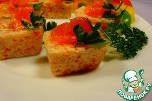 Рецепт Закуска из крабовых палочек с лососем