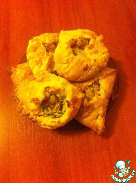пирожки из слоеного теста с клубникой фото