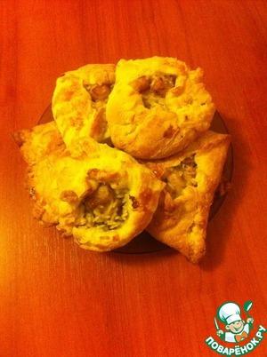 Рецепт Пироги с пангасиусом из слоеного теста