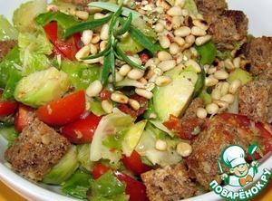 Рецепт Хлебный салат с брюссельской капустой