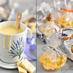 Горячий белый шоколад с ароматом лаванды