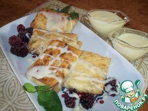 Рецепт Конвертики из лаваша с творогом и сухофруктами