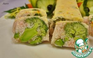 Рецепт Заливное из крабовых палочек и брокколи