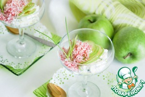 Рецепт Салат с крабовыми палочками, яблоком и рикоттой