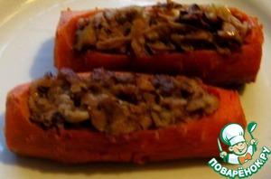 Рецепт Морковь фаршированная сладкая
