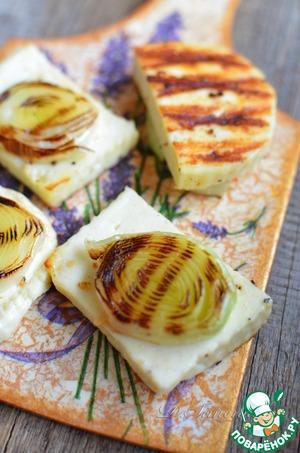 Рецепт Быстрая закуска из адыгейского сыра и порея на гриле