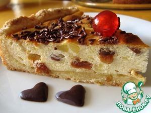 Рецепт Бабушкин творожный пирог с изюмом