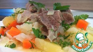 Рецепт Баранина тушеная, с овощами