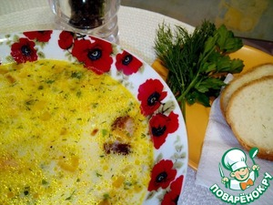 Рецепт Сырный суп с охотничьими колбасками