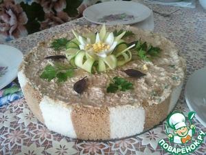 Рецепт Закусочный торт из хлебушка