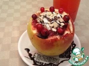 """Рецепт Запеченные яблоки с овсянкой """"Чаша здоровья"""""""