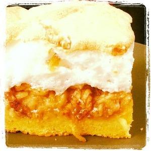 Рецепт Яблочный пирог с белым кремом