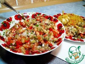 Рецепт Осенний салат с печеными баклажанами
