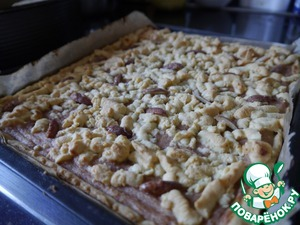 Рецепт Песочный пирог с банановой начинкой
