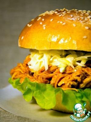 Рецепт Волокнянка куриная для бургеров, сэндвичей, бурритос
