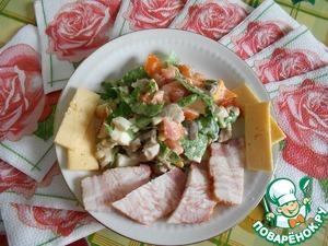 """Рецепт Салат с вешенками """"Сочный вкус"""""""