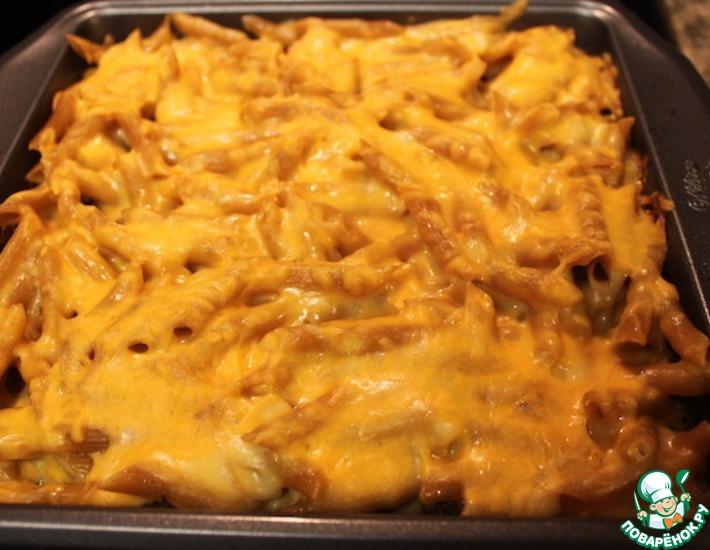 Рецепт: Макароны с фаршем и сыром в духовке