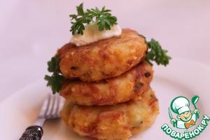 Рецепт Биточки картофельно-колбасные