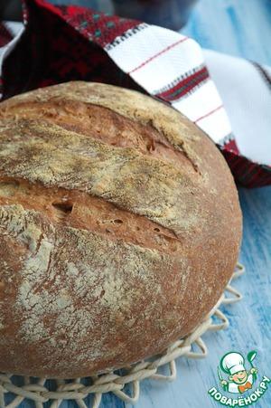 Рецепт Хлеб деревенский с цельнозерновой мукой