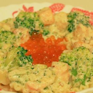 Рецепт Паста с лососем и брокколи в сливочном соусе