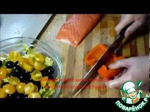 Рецепт Вкусный и полезный рыбный салат на скорую руку