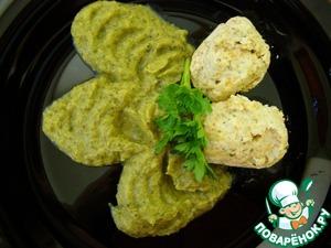 Рецепт Паровые тефтели с овощным пюре (Диета № 5)