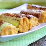 Порей, фаршированный хумусом и адыгейским сыром на гриле