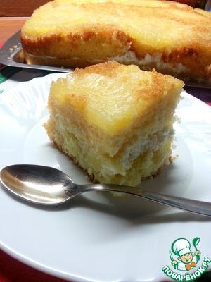 Рецепт Торт ананасовый от бабушки Анны (La torta di ananas di nonna Anna)