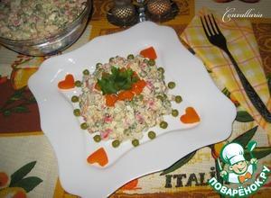 Рецепт Салат с цветной капустой и крабовыми палочками