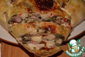 Рецепт Фаршированная курица с грибами
