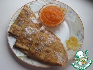 Рецепт Тыквенно-яблочные блинчики с корицей