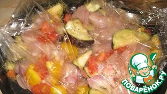 рукаве куриным картошка с в филе куриным рецепт с Запеченная