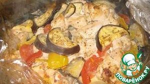 Как приготовить Куриное филе с овощами в рукаве для запекания домашний рецепт приготовления с фото