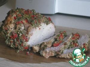 Рецепт Филе индейки запеченное в маринаде из перца и зелени