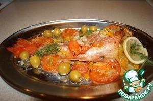 Рецепт Морской окунь запеченый с сельдереем