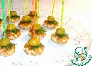 Рецепт Закусочные мини-биточки с крабовыми палочками