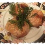 Куриные окорочка, фаршированные грибами