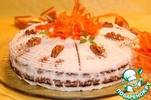 Рецепт Ароматный морковный торт